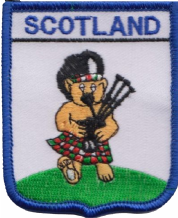 Scotland Teddy Piper Bagpipe Player Embroidered Badge (a465)